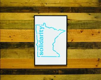 Minnesota Solidarity - Framed
