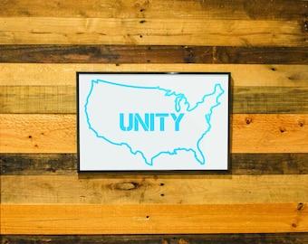 USA Unity- Framed