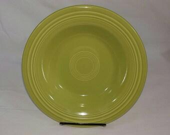 Vintage Fiesta Chartreuse Deep Plate