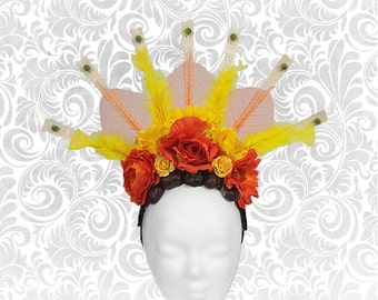 "Headdress ""Autumn"" flower head dress autumn"