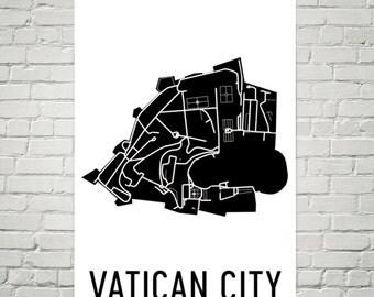 Vatican City Map, Vatican Art, Vatican Gift, Map of Vatican, Vatican Decor, Vatican Gift, Vatican Print, Vatican Poster, Vatican City