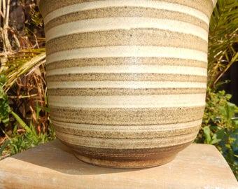 Retro Large W German Plant Pot c 1970s, Indoor Planter, Flower Pot, Vintage Planter