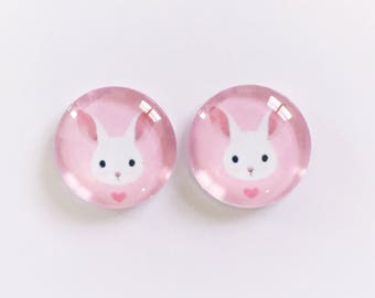 The 'Bunny' Glass Earring Studs