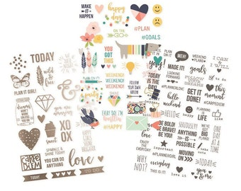 Clear Foiled Stickers - Posh Collection - Carpe Diem by Simple Stories