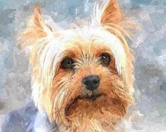 Custom PET Portrait, DOG Portrait, CAT Portrait,Custom Dog Portrait, Custom Cat Portrait, Dog Painting, Birthday Gift, Pet Memorial~Dog Art
