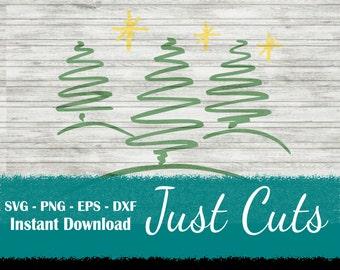 Christmas trees svg, Christmas svg, tree svg, Christmas, trees, pine trees, doodle svg, doodle trees, scribble, SVGfiles, EPS, DXF, svg