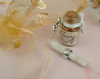 Magic Fairy Dust With Fairy Charm, Scroll & Gold Organza Pouch