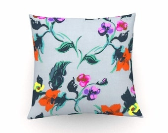 Retro floral print cushion cover, decorative pillow, retro floral cushion,vintage floral pillow,floral throw pillow,home decor,sixties style