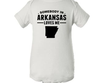 Somebody In Arkansas Loves Me Baby Bodysuit