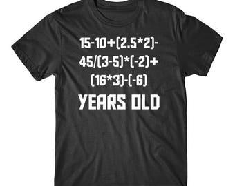 19 Years Old Algebra Equation Funny 19th Birthday Math Shirt