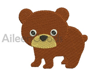 Bear Embroidery  design 8 Size  INSTANT download machine embroidery