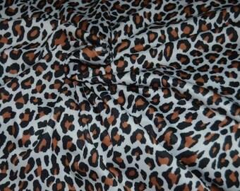 "White Brown & Black Animal Print 4 Way Stretch Nylon/Lycra Knit Fabric 58"" Wide"