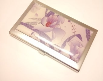 Fabulous Vintage Rectangular Compact Mirror with Floral Design
