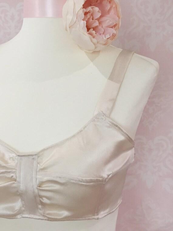 1920s Style Lingerie The Elsie May- 1920s bralette brassiere bra vintage lingerie art deco style bridal lingerie bullet bra silk lingerie retro bra $50.42 AT vintagedancer.com