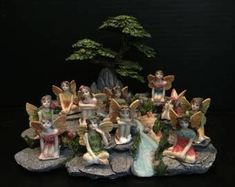 Fairy Garden | Sitting Flower Fairies | Pretty Resin Miniature Figurine Statues | Choose from 8 Different Styles | Great Value!
