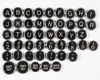 Typewriter Key Flat Back Vintage Antique 1934 Remington Noiseless Portable Your Choice ref002
