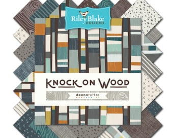 """Riley Blake Knock on Wood Modern Fabric Collection - 5"""" square stackers, 42 pieces"""