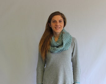 Ribbed Infinity Scarf- Double Wrap