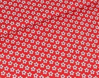 Cotton Little Blossom of red by Jolijou (11.50 EUR / meter)