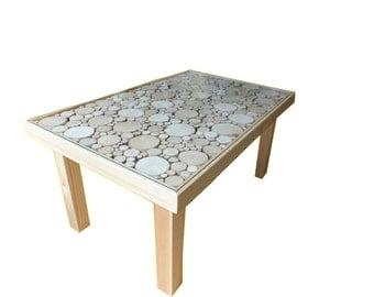 Wooden coffee table massif Scandinavian style