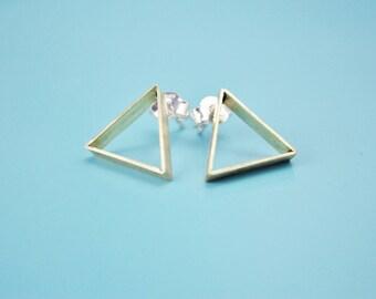 Minimalist geometric brass studs