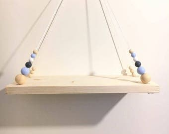 Shelf swing for model blue child's room