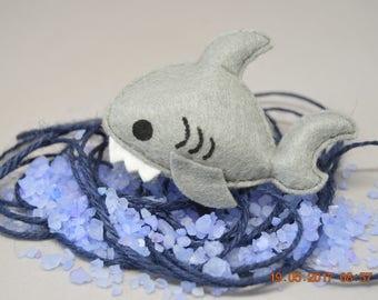 Little shark felt pin