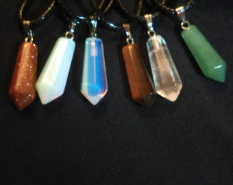 Crystal Wicca Pagan Witchcraft Necklaces