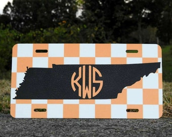 Custom Tennessee Checkerboard License Plate