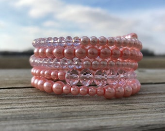 Show your pride~Breast Cancer Awareness Wrap bracelet