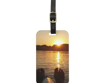Kayak Sunset Luggage Tag