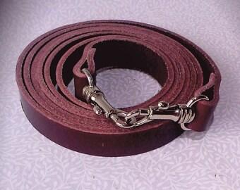 Burgundy leather cross body bag strap, handbag strap, bag strap, leather strap.