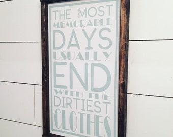 Memories - Laundry room sign [FREE SHIPPING!]