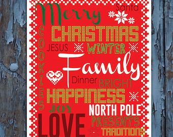 Christmas, Christmas decor, Christmas print, Christmas decorations, Christmas art, Thanksgiving printable, Christmas table