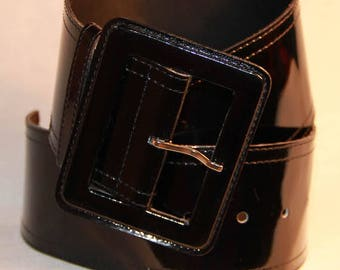 Large black belt Leather
