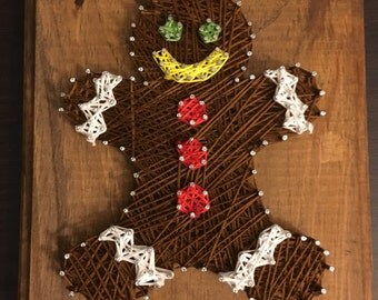 Gingerbread Man String Art