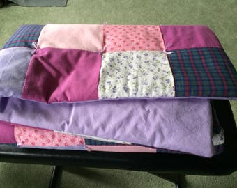 Crib Sized Patch Work Baby Quilt