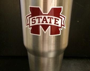 MSU Mississipi State University Bulldogs Ozark Trail 20 oz & 30 oz Tumbler NEW M State Also in White