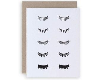 Falsies - Letterpress Greeting Card