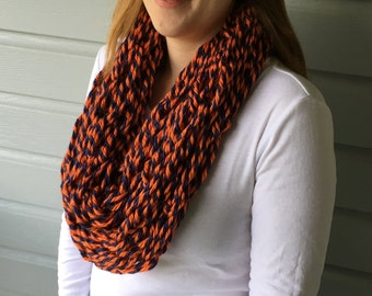 Syracuse University Handmade Arm Knit Infinity Scarf