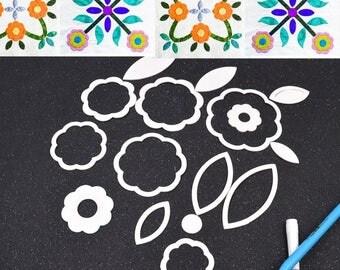 16 Designs 18pcs Quilting Template Patchwork Tools Set Quilt Handmade DIY Cloth Quilting