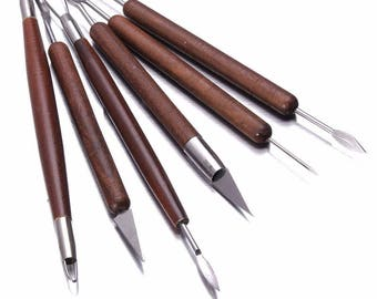 6pcs Clay Sculpting Set Wax Carving Pottery Tools Shapers Polymer Modeling for Home Handmade Sculpting Supplies