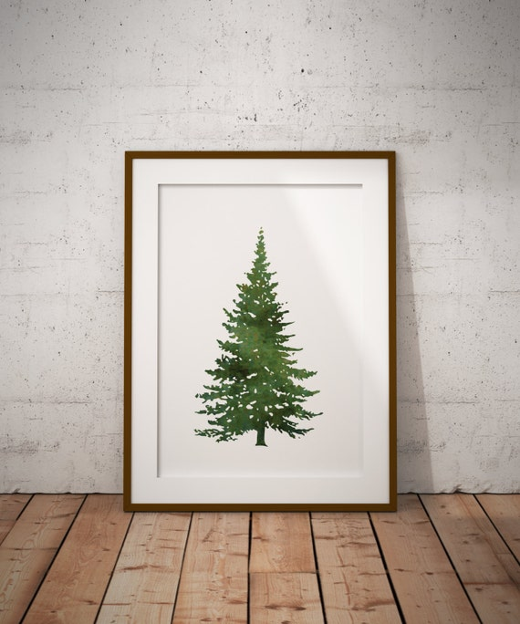 watercolor Christmas tree print Photo Courtesy of Lookforthelight