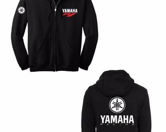 YAMAHA YZFR1 PRINTED Hoodie Full Zip Hooded Sweatshirt