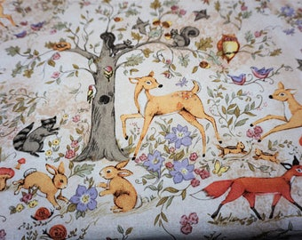 Custom - Changing Pad cover in designer woodland print fabric or convo me for your choice of many other fabrics