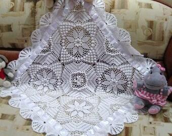 baby blanket baptism cristening knitted blanket