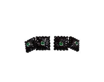 Onyx cufflinks