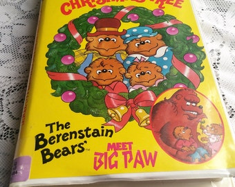 1992 VHS Berenstain Bears / Christmas Tree / Meet Big Paw / Double Feature / Vintage / Goodtimes / Berenstein Bears book / Mandela Effect