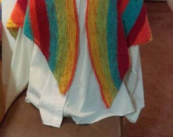 Rainbow Spring shawl