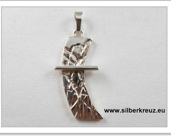 Cross silver - a sublime straight line (AKR-1132)